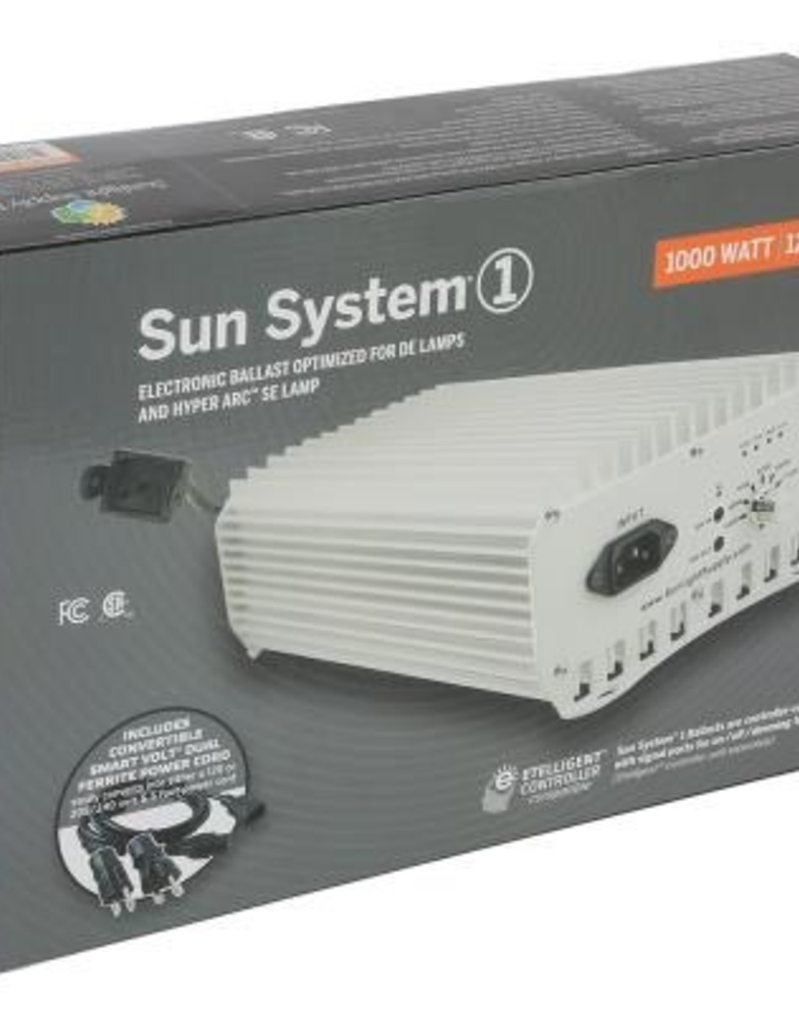 SUN SYSTEM The Sun System® 1 DE ballast(s) is Etelligent™ compatible with signal ports for on/off/dimming functions by this wired controller. The Sun System® 1 advanced 105 kHz microprocessor is designed specifically to drive DE lamps at a sustained peak performance