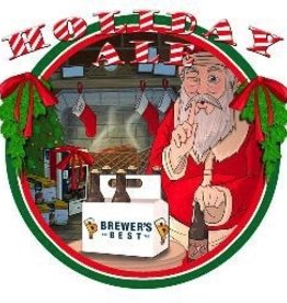 BREWERS BEST HOLIDAY ALE  <br />This full-bodied amber beer has a rich, malty character that is flavored with orange peel, cinnamon and other spices.  It is a complex winter brew balanced with high alpha-acid hops.  At 7 - 8% this strong ale will be sure to warm you throug