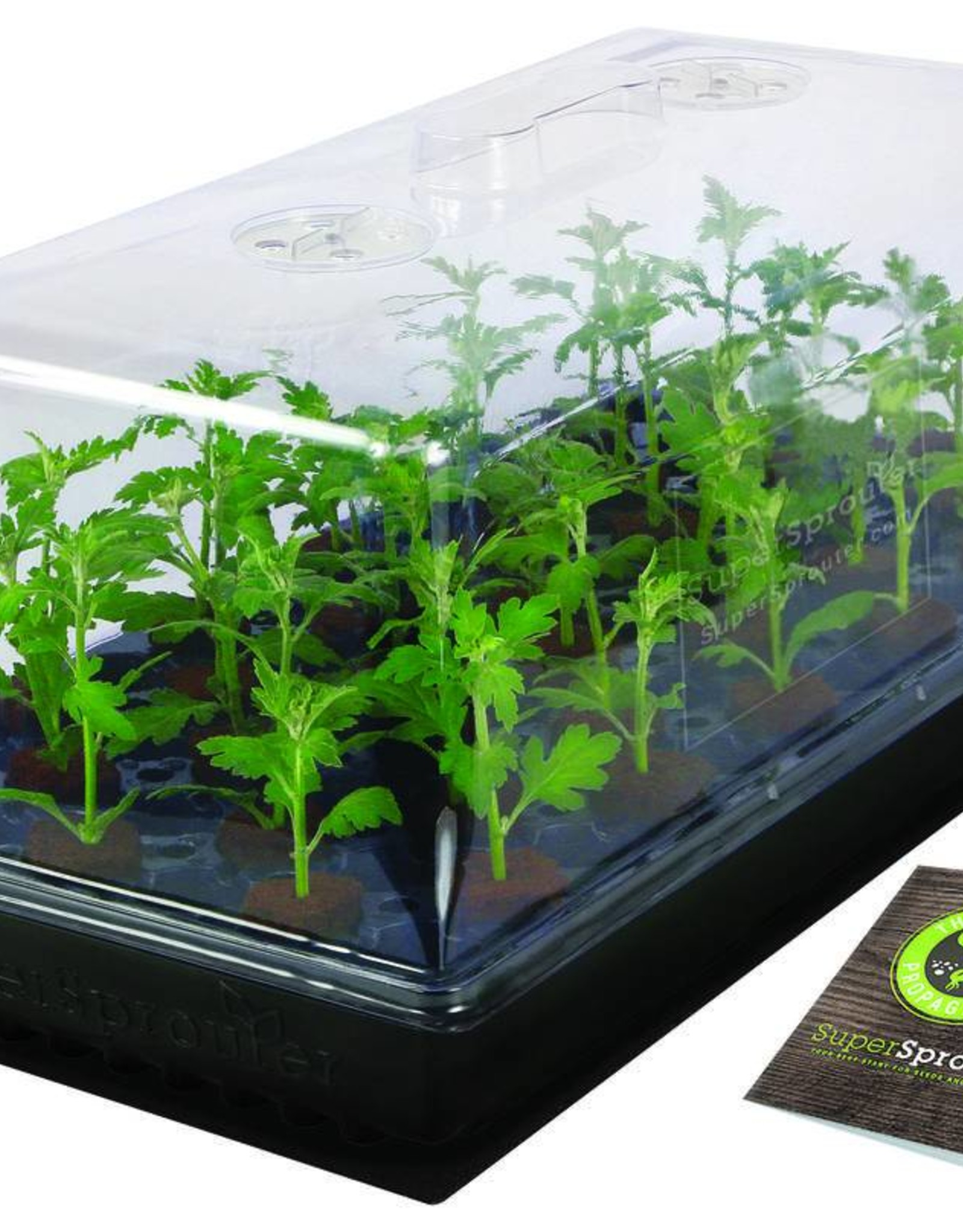 SUPER SPROUTER Start your growing season early with everything you need in this kit to start your seedlings. It is proven that seeds grow better with ambient temperatures 10° - 20° F above room temperature. The Super Sprouter® Seedling Heat Mat will provide even warm te