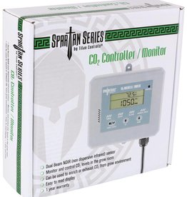 TITAN CONTROLS Built to the high levels of quality Titan Controls® is known for, the Spartan Series® CO2 Controller/Monitor allows you to supercharge your garden at an affordable price. Capable of controlling both a CO2 regulator or a CO2 generator, this controller give