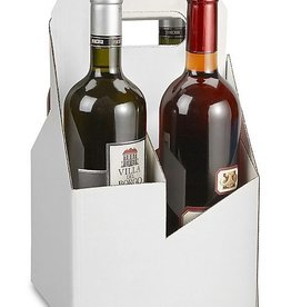 uline 4 BOTTLE CARRIERS 7 x 7 x 12""