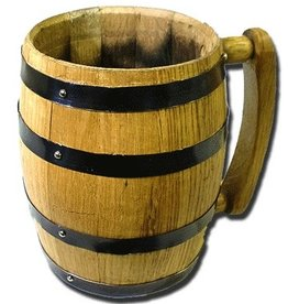 1000 OAKS Barrel Mug w/ Black Hoops .5 LT