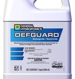 GENERAL HYDROPONICS General Hydroponics® Defguard™ Biofungicide/Bactericide is an OMRI-listed biofungicide and bactericide for use in organic gardening that's effective against a variety of pathogens, particularly botrytis (which causes botrytis blight, or gray mold) and pow
