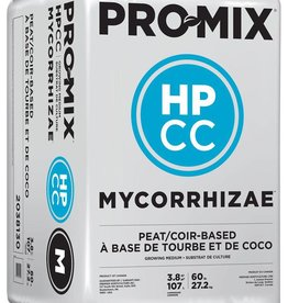 PRO-MIX STORE PICKUP ONLY<br /> Pro-Mix HPCC Mycorrhizae™ is a lightweight, high-porosity, peat-based growing medium that contains chunk coir. It ensures optimum growth, especially when high air capacity and extra drainage are required. It is ideal for water-sensitive