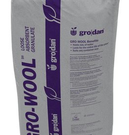 GRODAN Granulated rockwool works great on its own or mixed with other loose media, such as expanded clay rocks or coconut fiber. If planting in containers outdoors, water absorbent granulate is the best medium of choice.