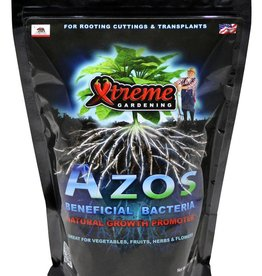 Xtreme Gardening Azos is a beneficial microbe that sparks new root development and boosts growth. Azos works by rapidly increasing plant production of IAA (indole-3 acetic acid)–a natural plant hormone, affecting cell division, growth rates and plant and root development.