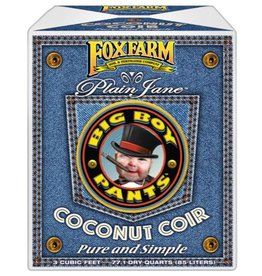 FOX FARM Big Boy Pants™ Plain Jane™ Coconut Fiber is the basic foundation for your growing program. It's a Plain Jane™ mix that contains a proprietary blend of low salt fiber and pith for superior aeration and optimal water retention. Pure and simple! If you've be