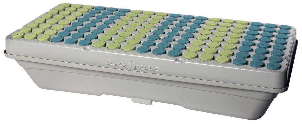 TURBO KLONE The 144 site Elite Klone Machine is a Commercial Level propagation system. These systems are specifically designed for serious growers. Made of grey ABS plastic shell for less heat absorption from lights above and greater reflective properties to promote