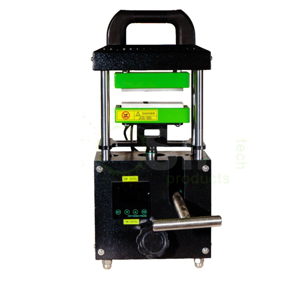 """Rosin Not only can the unit easily be transported, weighing in at 40 lbs, the press is similar to a pump giving the user total speed and pressure control of the 2 3/8"""" x 4 3/4"""" dual heated plates. A simple digital controller allows for the heat plate temperatur"""