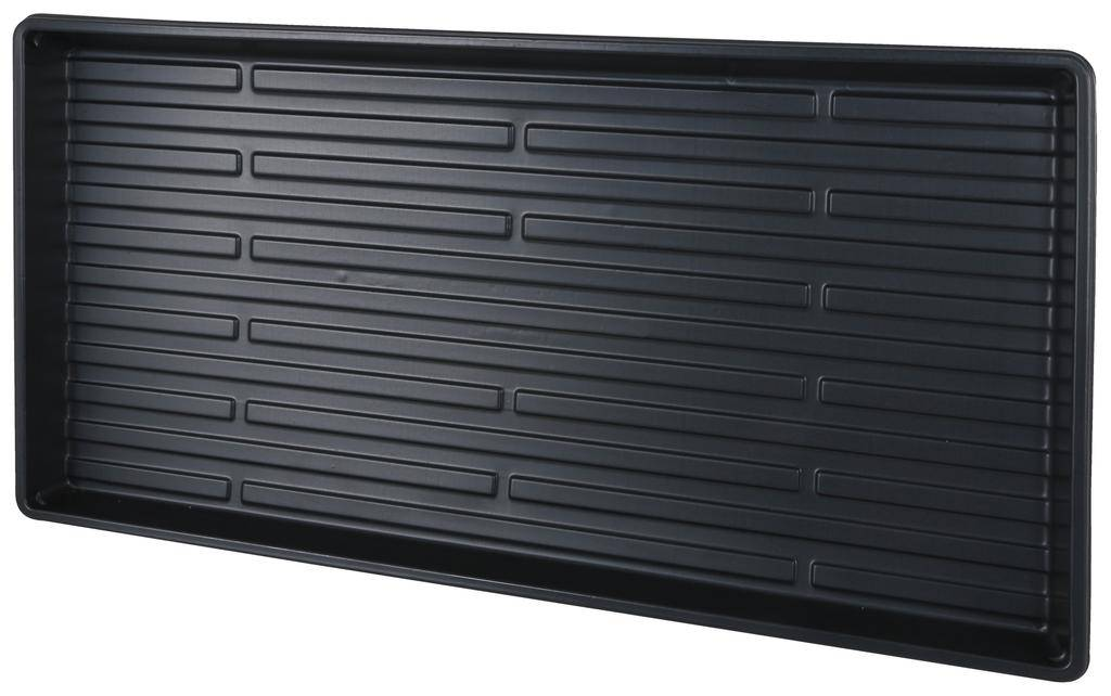 SUPER SPROUTER Super Sprouter® 10 x 20 Short Germination Tray with No Hole has a shortened tray wall that measures 1.3 in tall. They can be used for germinating seeds, but also work well as a catch tray for water on taller inserts and can hold up to a gallon of water.