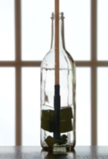 """bsg The all-plastic stem is safer for use in glass bottles and fits a 3/8 """" drill chuck. The cloth is not replaceable, but pricing is reasonable."""