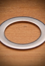 bsg Inner Diam.0.82″<br /> Outer Diam.1.25″<br /> Thickness∼0.0625″<br /> This stainless steel washer is specially sized to fit over male NPT fittings.