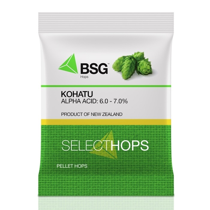 HOPUNION Origin: New Zealand. Kohatu® is a dual purpose variety with mid-range alpha and fresh tropical fruit character.<br /> <br /> Usage: With characteristic tropical character and extremely stable flavor and aroma characteristics that carry through into the finished beer.
