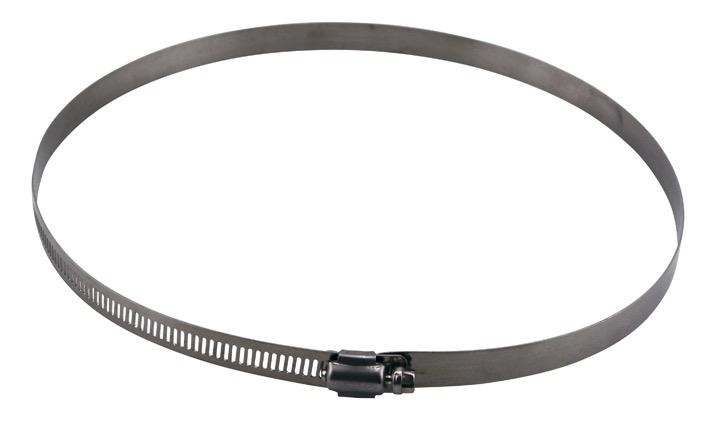 IDEAL-AIR These stainless steel hose clamps are perfect for attaching flexible ducting to air cooled hoods, exhaust fans, filters and silencers. They are simple to use and make for a clean duct connection. Conveniently packaged 2 per bag.