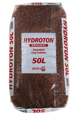 MOTHER EARTH Store pickup only<br /> The original Hydroton® brand expanded clay is a unique, lightweight expanded clay aggregate made in Germany. This natural clay is mined, formed into pellets, then kiln fired at high temperatures to cause the clay to expand into tough, li