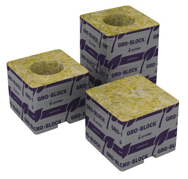 GRODAN Store pickup<br /> Gro-Blocks™ are similar to a plant container. Need a 3 in pot? Then choose a 3 in Gro-Block™. Small plants can be fully grown in our larger Gro-Blocks™. Holes are perfect size for any 1.5 in starter plug. Come in packs labeled with instructio