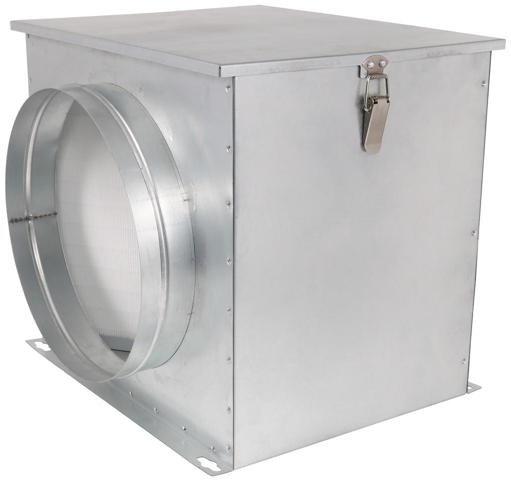 IDEAL-AIR Ideal-Air™ HEPA Intake Filter Boxes are the first in their class of inline filtration, with the HEPA filter fighting against incoming contaminants. Each galvanized metal box has an easy open lid that connects easily to duct work. HEPA filters have many ap