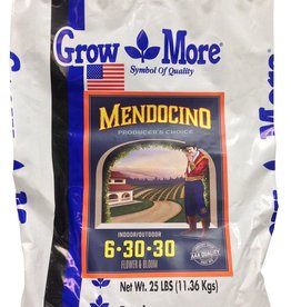 GROW MORE Grow More's Mendocino Producer's Choice line of fertilizers are the most advanced powders we've ever created. They are 100% water-soluble formulas containing a properly balanced mixture of all essential plant nutrients with quality-enhancing elements: cal