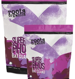 AURORA INNOVATIONS SUPER PHOS BAT GUANO<br /> NPK  /  1 - 14 - 0<br /> DERIVED FROM<br /> 100% Natural Bat Guano<br /> Roots Organics Super Phos Bat Guano is incredibly high in phosphorus and calcium and is extracted from select caves when the quality is at its highest. Potent and powerful high ph