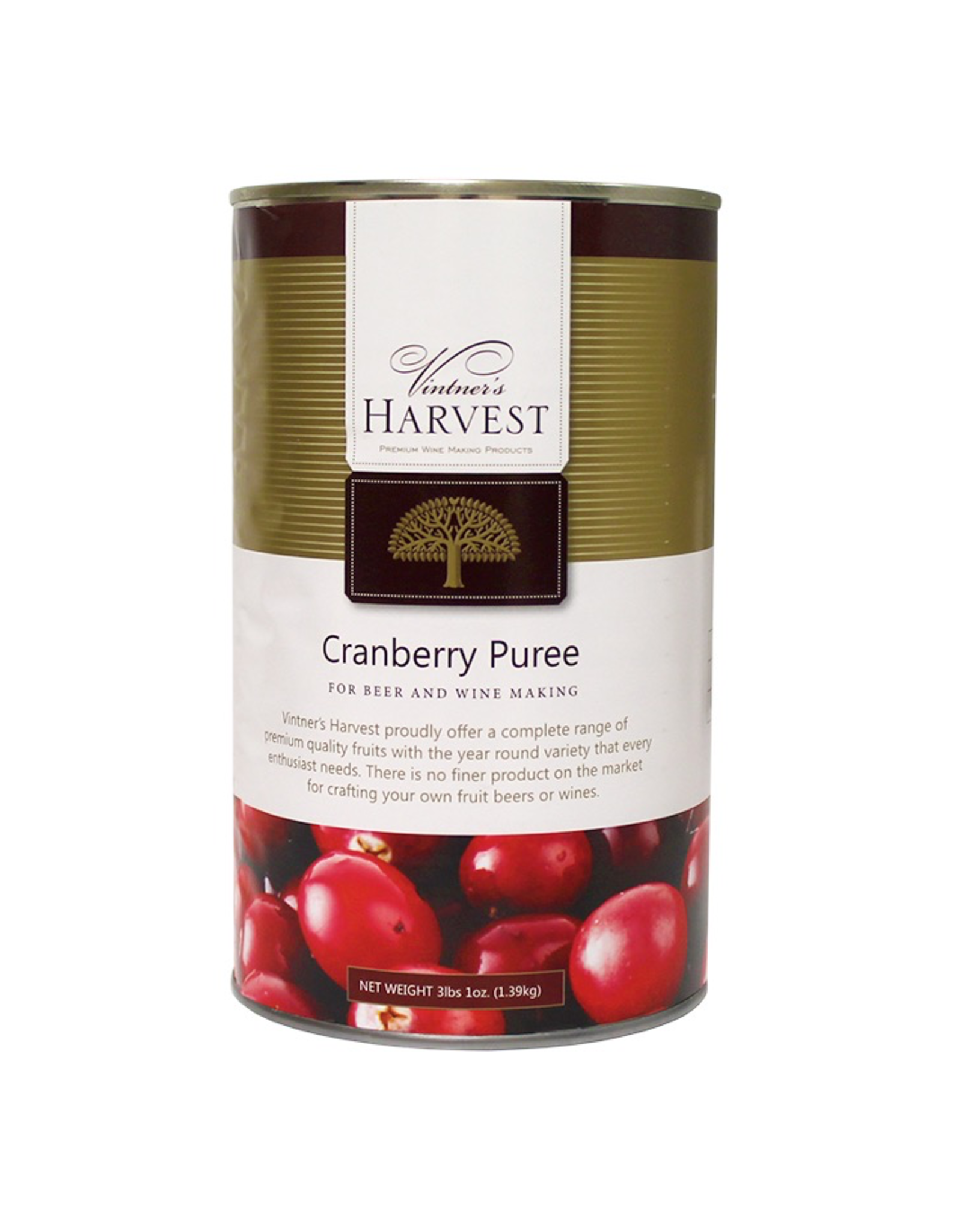 VINTNER'S CRANBERRY PUREE 49 OZ VINTNER'S HARVEST