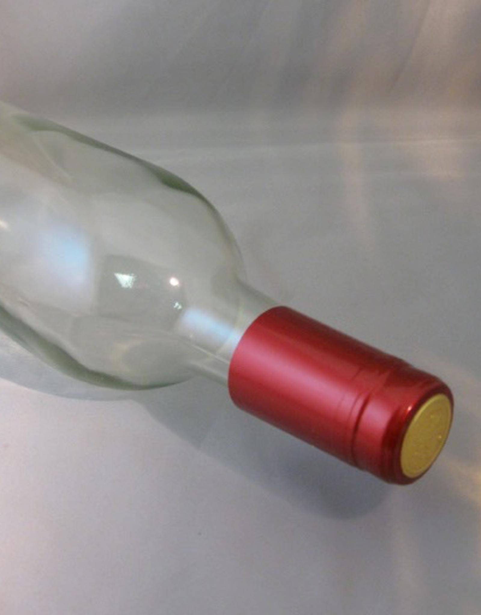 WINE EXPERT METALLIC SOLID RUBY RED PVC SHRINK CAPSULES 30/BAG