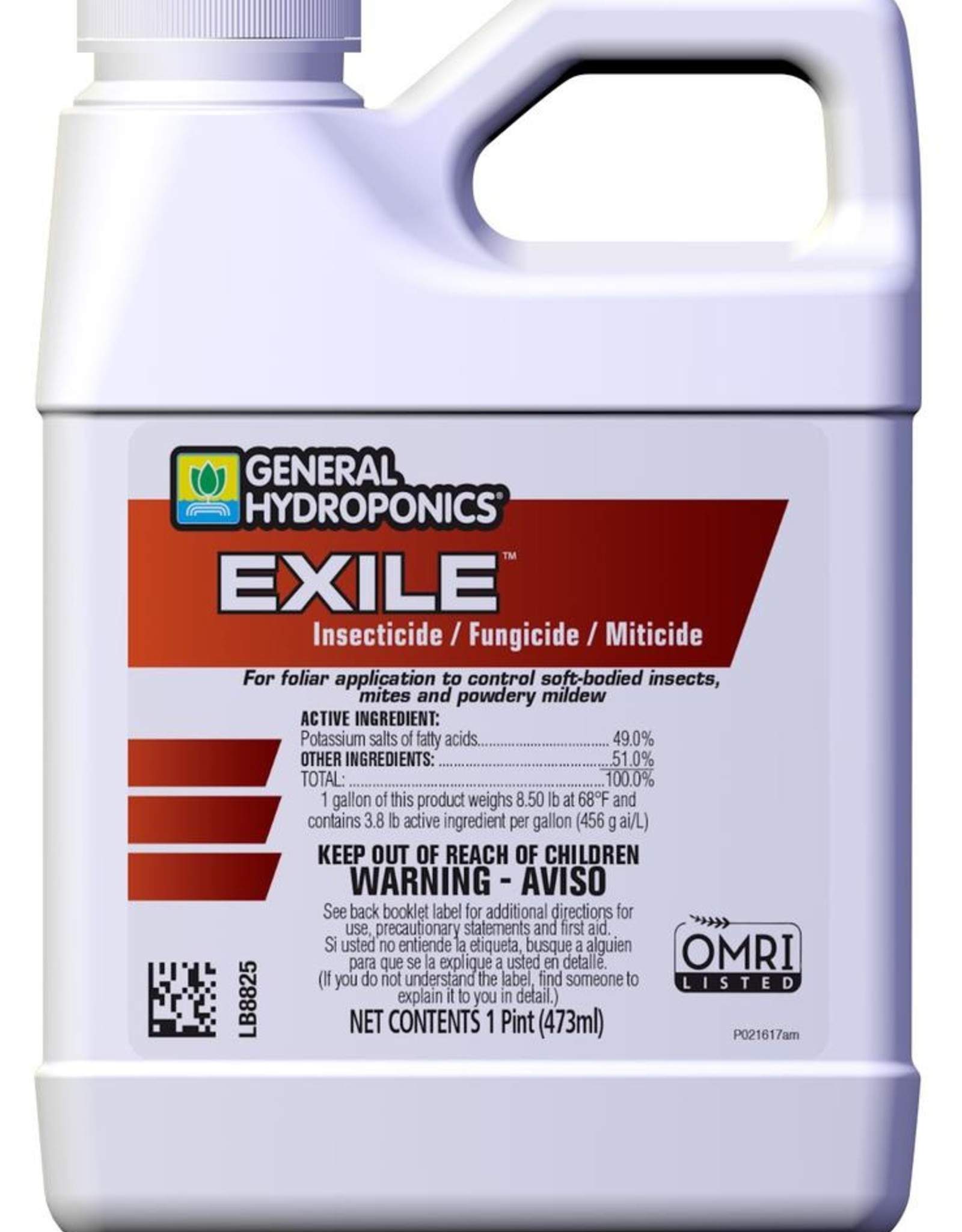 GENERAL HYDROPONICS GH Exile Insecticide / Fungicide / Miticide Pint