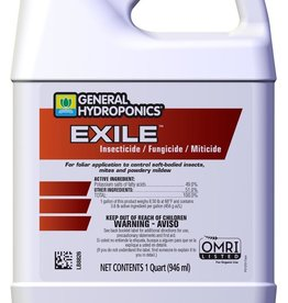 GENERAL HYDROPONICS GH Exile Insecticide / Fungicide / Miticide Quart