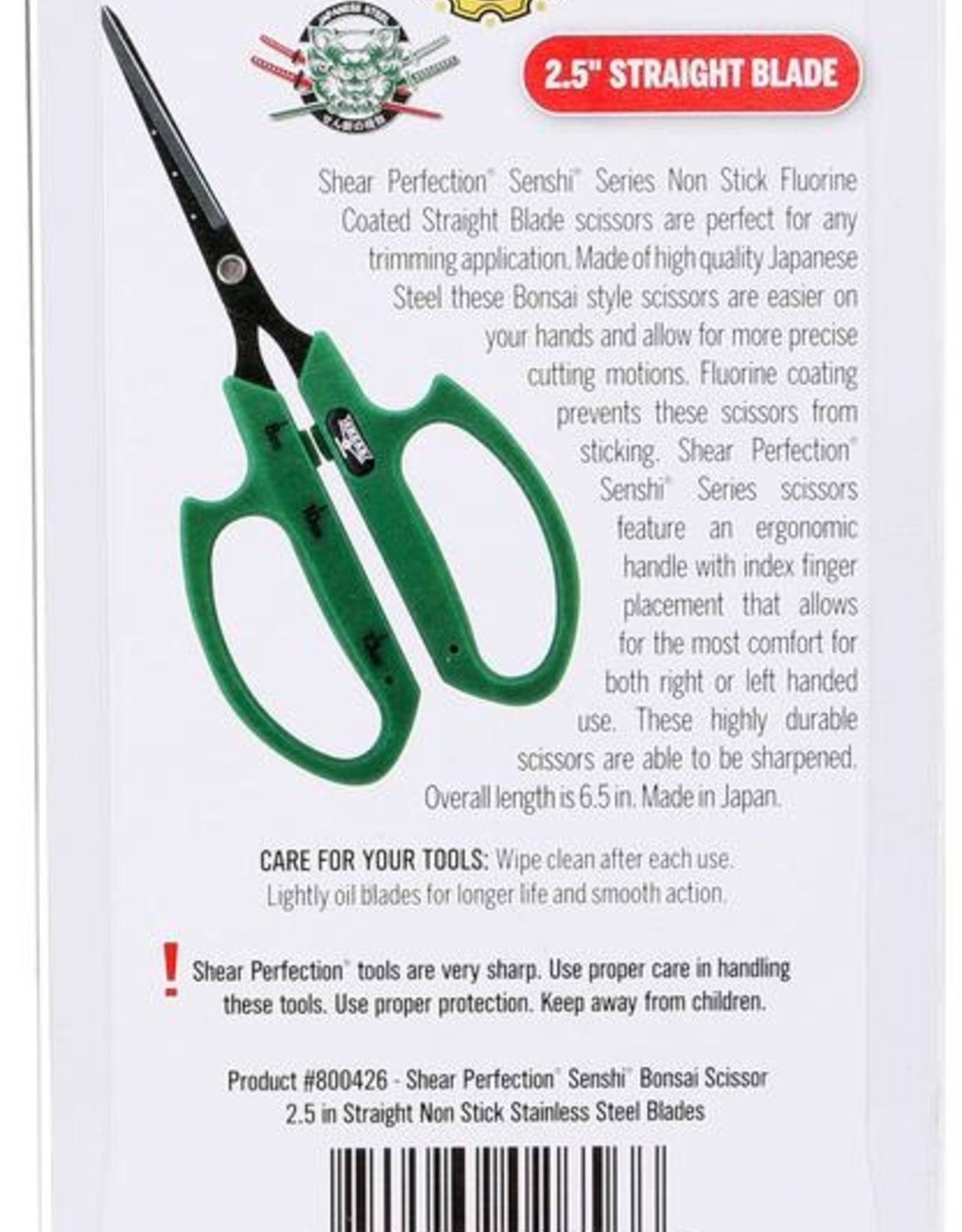 SHEAR PERFECTION Shear Perfection Senshi Non Stick Bonsai Scissor - 2.5 in Straight Blades