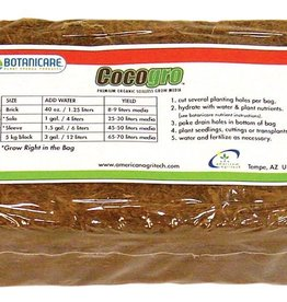BOTANICARE Cocogro® has a very low salt content that is available in 3/4 in double-sieved long fibers to reduce dust and give ample space within the mix. It has excellent drainage properties and can be used over a longer period of time than coir fiber with shorter f
