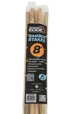 GROWERS EDGE Grower's Edge® Natural Bamboo Stakes are all-natural, strong, lightweight, inexpensive, weather well and last several seasons in the garden. Use these stakes as plant stakes and markers or as supports for potted plants. 8 ft stakes cannot be shipped UPS G