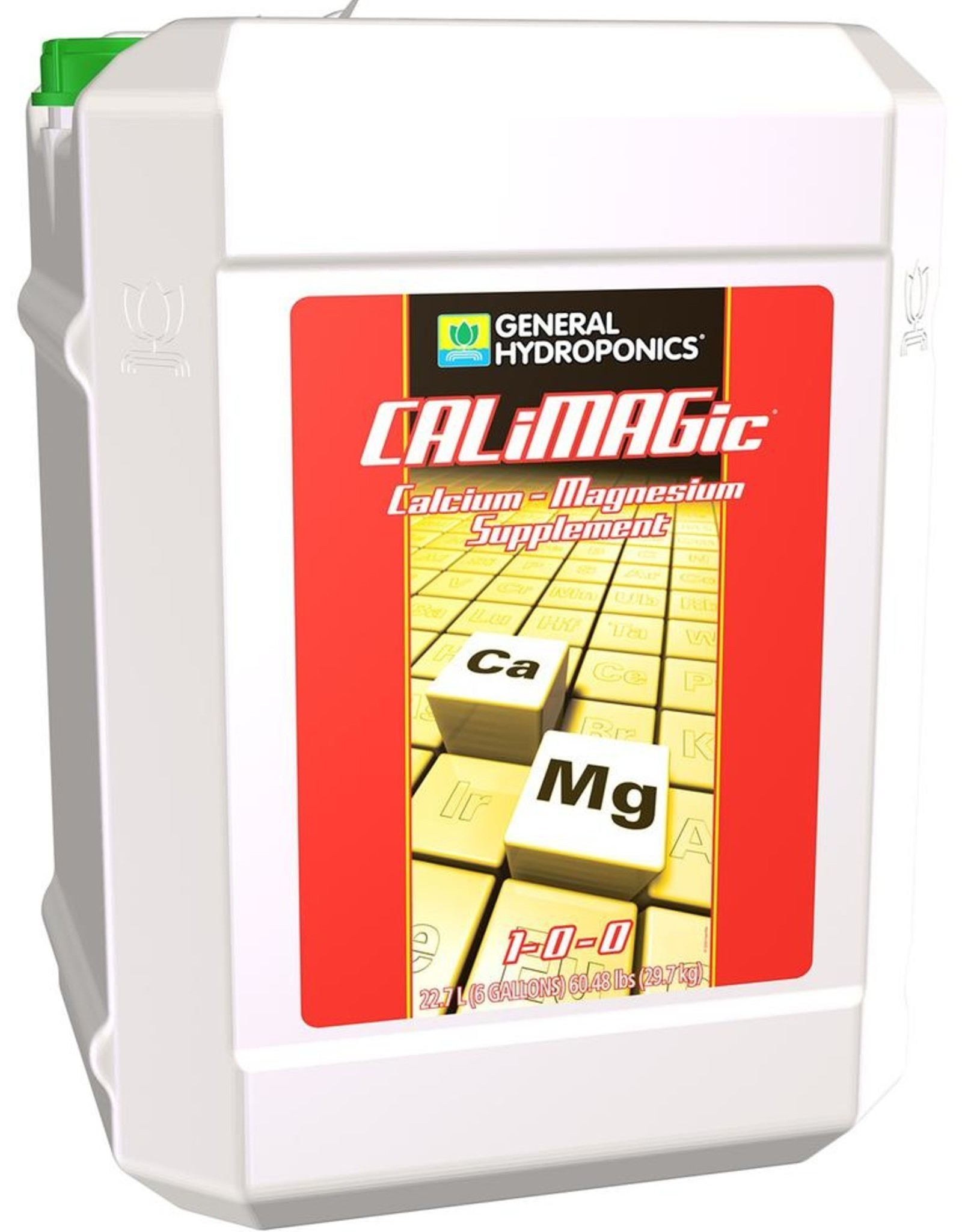 GENERAL HYDROPONICS CALiMAGic™ is a concentrated blend of readily available calcium and magnesium. It is formulated to assist fast growing plants by preventing secondary nutrient deficiencies. CALiMAGic™ helps optimize plant nutrition and enhances plant growth and developmen
