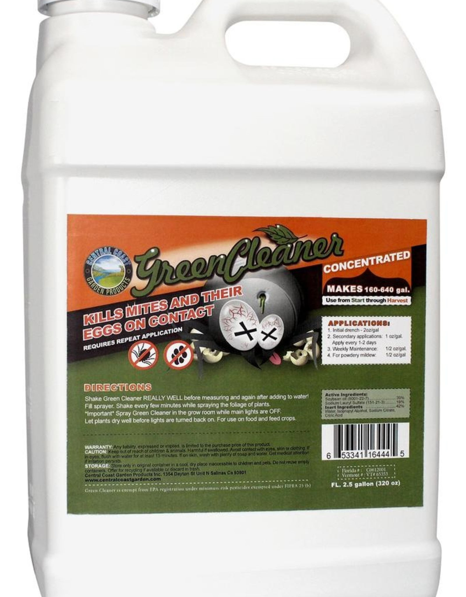 Central coast garden products Green Cleaner 2.5 Gallon