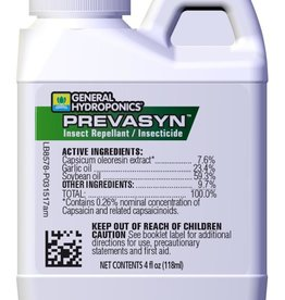 GENERAL HYDROPONICS GH Prevasyn Insect Repellant / Insecticide 4 oz