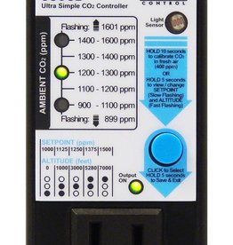 GROZONE Grozone Control USCO2 0-2000 PPM Single Zone Ultra Simple CO2 Controller