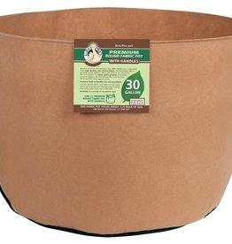 GRO PRO Gro Pro Premium Round Fabric Pot w/ Handles 30 Gallon - Tan