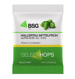 HOPUNION Origin: Germany. The signature landrace variety of the Hallertau region in Bavaria, Hallertau Mittelfrüh is, at least to some, the epitome of noble hops.<br /> <br /> Usage: Aroma. Although it can be and is used throughout the boil, it is most prized for its fine, el