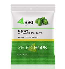 HOPUNION Origin: A triploid variety bred from Southern Cross and a New Zealand male, Moutere™ was released in 2015. <br /> <br /> Usage: Moutere's high alpha and low cohumulone make it an excellent bittering hop, but brewers will find it difficult to not make use of its punge