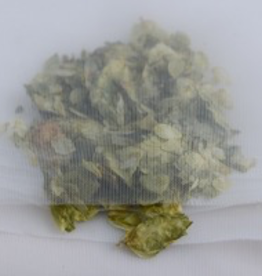 bsg A fine mesh nylon bag with a flat bottom, 2′ × 3′.