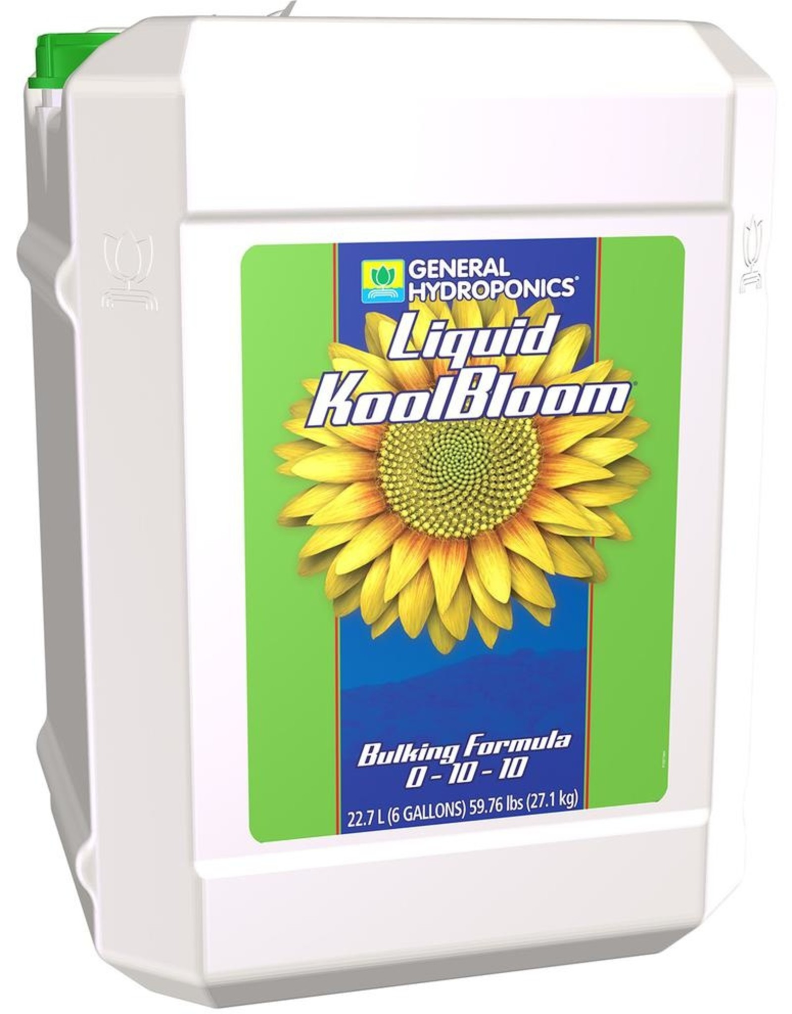 GENERAL HYDROPONICS Liquid KoolBloom® is a bulking agent that goes way beyond other bloom boosters. Enriched with stress-reducing vitamins and nutrient-transporting acids, it promotes heavy production of essential oils, fantastic flavors and increases fruiting and flower dev
