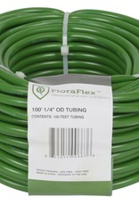 FloraFlex The FloraFlex™ 3/16 in ID - 1/4 in OD tubing comes in green to color coordinate with the FloraFlex™ FloraCap's. FloraFlex's premium vinyl tubing is made from 100% food grade material. Comes 100 ft per roll. Designed to be compatible wit the FloraFlex™ Flo
