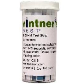 VINTNER'S VINTNER'S BEST® pH PAPERS WINE RANGE 2.8-4.4 100/VIAL