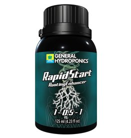 GENERAL HYDROPONICS Rapidstart enhances your growing experience by delivering a powerful blend of premium plant extracts, amino acids, and nutrients generating explosive root growth. Using Rapidstart stimulates prolific root branching and development of fine root hairs that