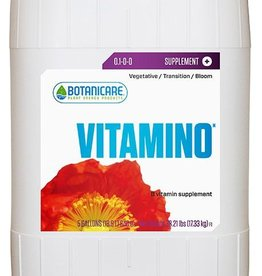 BOTANICARE Botanicare® developed Vitamino® to preserve balanced plant growth and optimal plant health in accelerated growth environments. Vitamino® uses high-impact supplements including select vitamins and all 20 essential amino acids to act either directly or as c