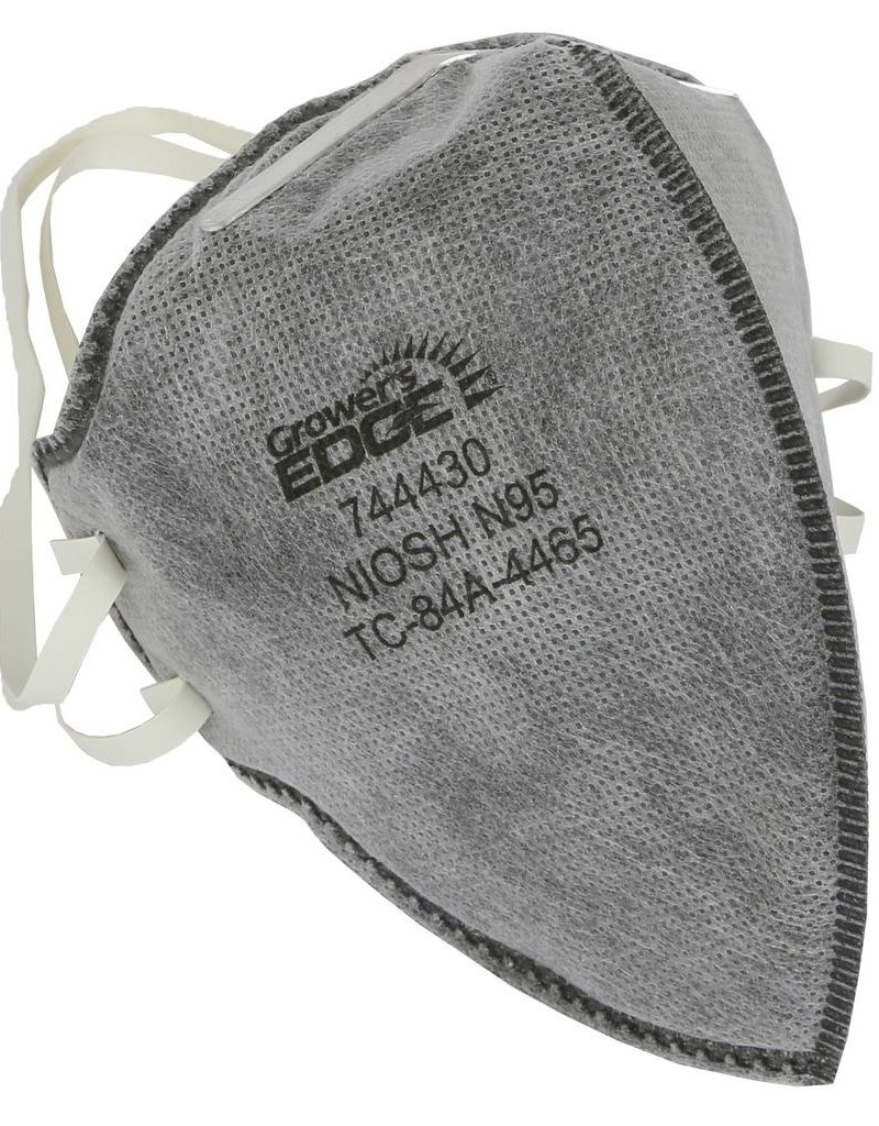 GROWERS EDGE Grower's Edge Clean Room Vertical Fold-Flat Active Carbon Respirator Mask