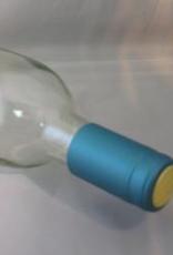 LD CARLSON METALLIC SOLID LIGHT BLUE PVC SHRINK CAPSULES 30/BAG