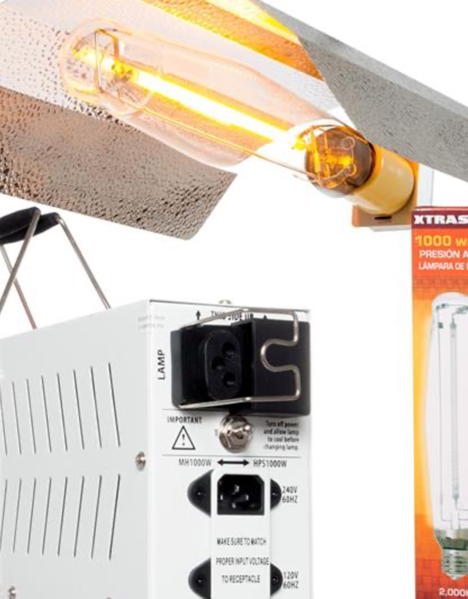 XTRASUN Product Details<br /> If you're looking for a quality HPS system at a very affordable price, this Xtrasun kit fits the bill very nicely. It combines the Xtrasun II Aluminum Wing Reflector with our SG 1000W 120V/240V convertible ballast and an Xtrasun 1000W HPS