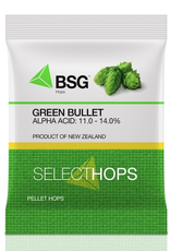 bsg Breeding/Development: New Zealand. A high-alpha hop bred from open cross-pollination of Smoothcone, Green Bullet™ was first released in 1972. As with many New Zealand varieties, it possesses a level of aromatic oils unusual for high-alpha varieties bred i