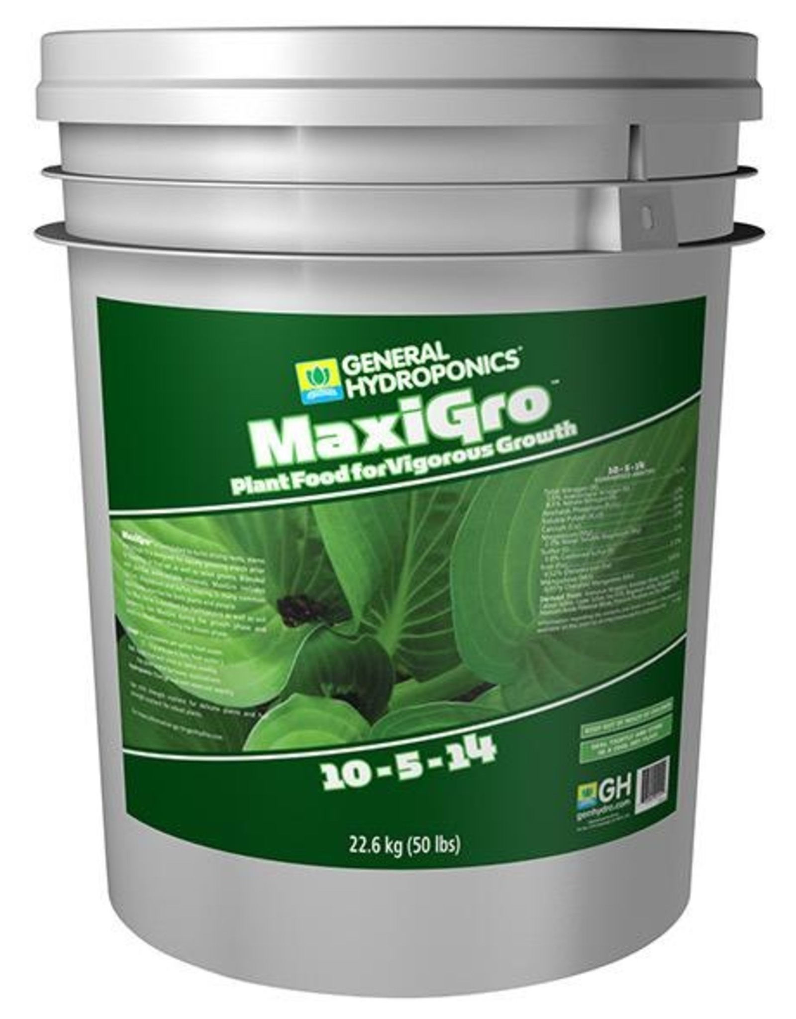 GENERAL HYDROPONICS MaxiGro™ and MaxiBloom™ are extremely potent, stand-alone, water-soluble, dry concentrate nutrients. Complete in primary, secondary and micronutrients, pH buffered MaxiGro™ and MaxiBloom™ will provide superior results when used with a wide variety of crop