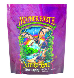 MOTHER EARTH Mother Earth Nitro Bat Bat Guano is a single-ingredient bat guano supplemental fertilizer. From our cave to your garden, Mother Earth Nitro Bat Bat Guano 5-3-1 is sure to become your garden's new best friend. This dry fertilizer is great for oversized and