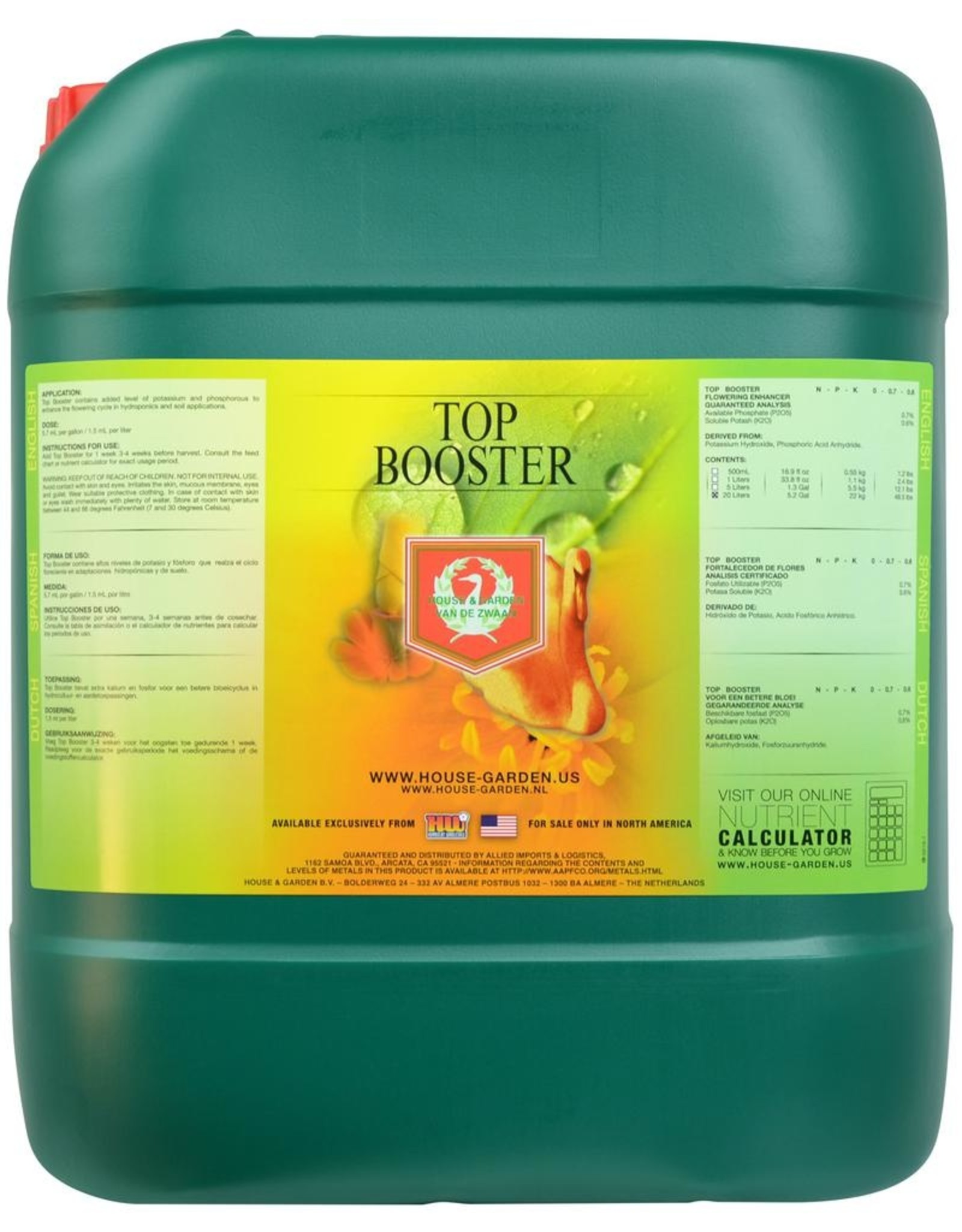 HOUSE & GARDEN House & Garden Top Booster® provides nutrients needed for ripening and helps set the stage for Bud-XL® and Shooting Powder.